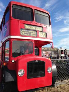 Pride of place in Springfield is the new 'London Calling' pit stop in a double decker bus, offering British comfort food, aka gourmet pasties. Come to think of it, Gregg's would do very well here!