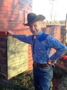 Mr Sam, round barn aficionado. Utterly charming