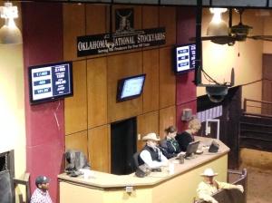 The auction podium