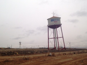 Leaning water tower, Groom. Built as a gimmick to promote a now-vanished truck stop