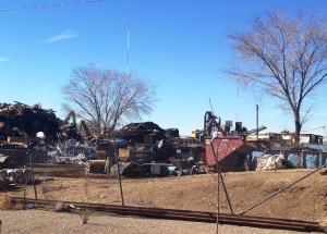 Scrap yard where the RV was crushed
