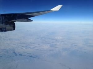 Flying over Alaska. Minus 55 degrees