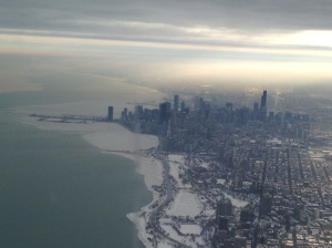 The approach into Chicago