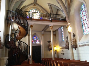 Inside Loretta Chapel - the Miraculous Stairway, with no visible means of support
