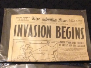100's of original newspapers on display