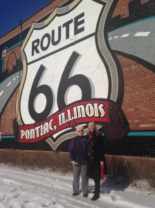 The lovely Rose from the Route 66 Museum, who made us feel right at home in Pontiac!