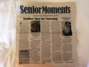 Senior Moments. The newspaper for Baby Boomers!